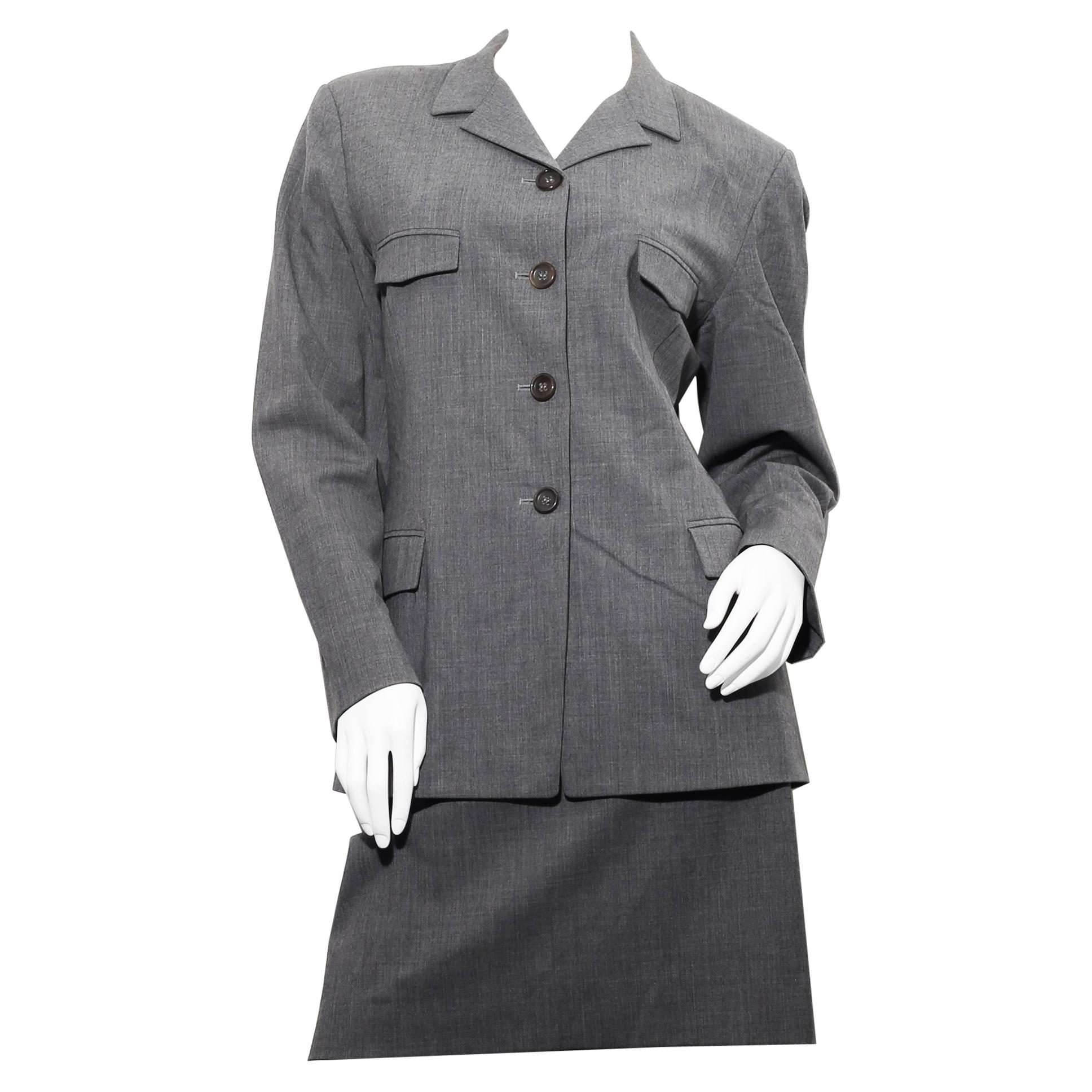 Timeless Grey Jil Sander work suit in freeze wool size 40