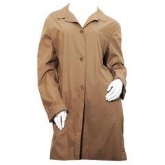 Timeless Tobacco Jil Sander Raincoat size 42 Europe