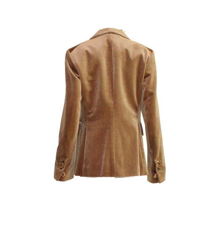 Brown NEW Yves Saint Laurent Needlecord Blazer Jacket For Sale