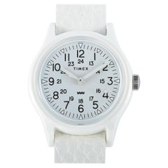 Timex Camper White Leather Strap Watch TW2T96200