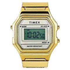 Timex Digital Mini Gold-Tone Watch TW2T48000