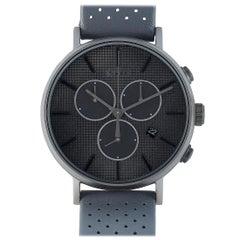 Timex Fairfield Supernova Chronograph Gray Leather Watch TW2R97800