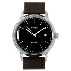 Timex Marlin Automatic Brown Leather Strap Watch TW2T23000