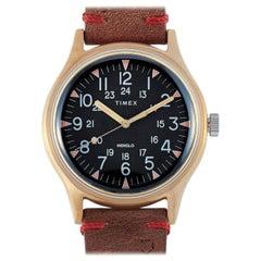 Timex MK1 24 Hour Leather Strap Military Watch TW2R96700