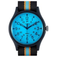Timex MK1 Aluminum California Blue Dial Watch TW2T25400
