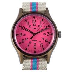 Timex MK1 Aluminum California Pink Dial Watch TW2T25600