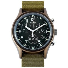 Timex MK1 Aluminum Chronograph Green Dial Watch TW2R67800