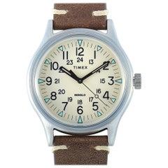 Timex MK1 Brown Leather Watch TW2R96800