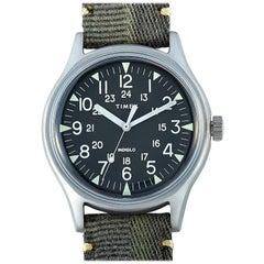 Timex MK1 Steel Green Dial Watch TW2R68100