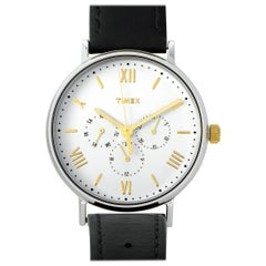 Timex Southview Black Leather Strap Watch TW2R80500