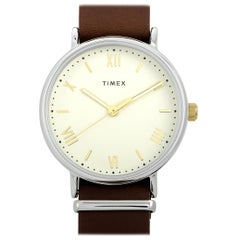 Timex Southview Brown Leather Watch TW2R80400