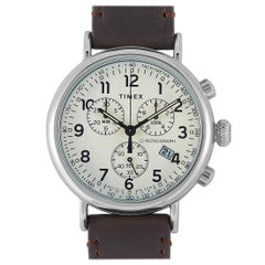 Timex Standard Chronograph Brown Leather Watch TW2T21000