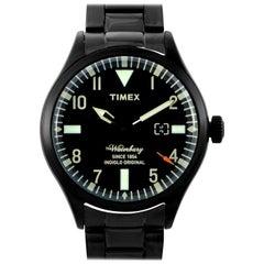 Timex Waterbury Black Stainless Steel Watch TW2R25200