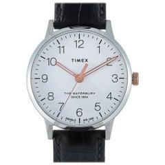 Timex Waterbury Classic Black Leather Watch TW2R72400