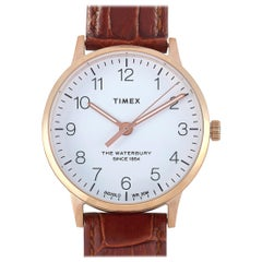 Timex Waterbury Classic Leather Band Watch TW2R72500