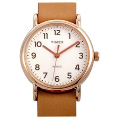 Timex Weekender Rose Gold-Tone Watch TW2R59600-A