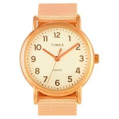 Timex Weekender Rose-Gold Tone Watch TW2R59600