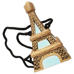 Timmy Woods Beverly Hills Tour D'Eiffel Bag  Limited Ed Embellished Evening Bag