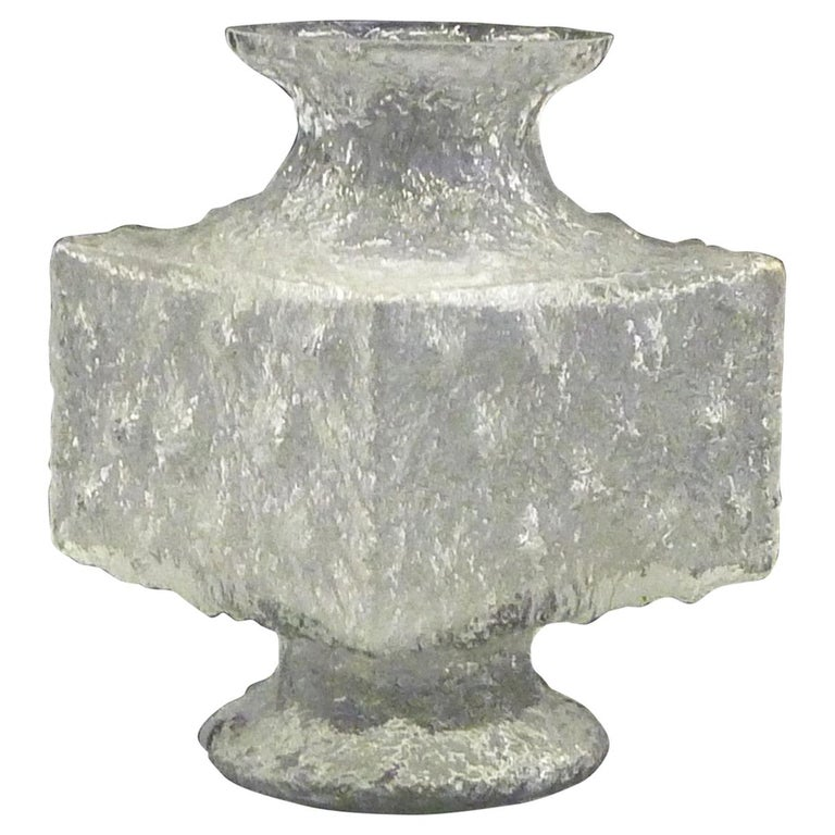 Timo Sarpaneva Brutalist Modern Crassus Textured Glass Vase Iittala Finland 1960 For Sale