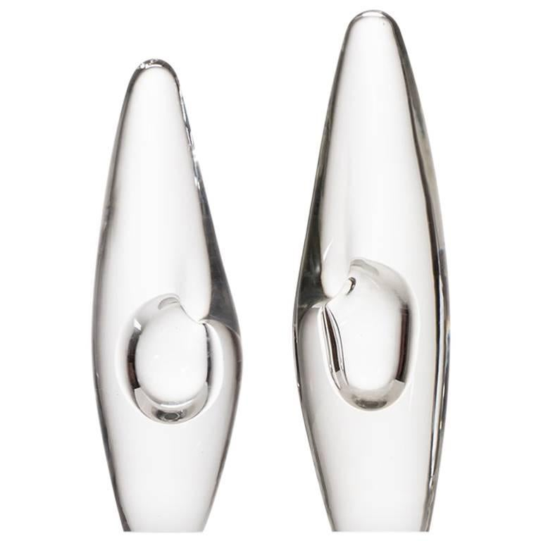 Timo Sarpaneva Glass Vases 'Orchid' by Iittala in Finland