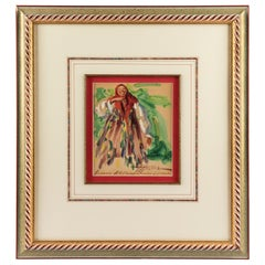 Timofey Katurkin Russian Watercolor of Laughing Woman