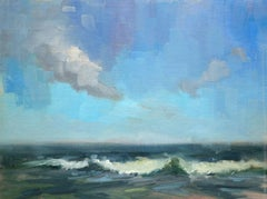 Clouds and Surf, Painting, Oil on Canvas