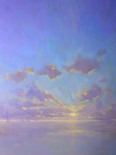 Cloudscape in Purples, Painting, Oil on Canvas