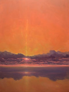 Evening in Purple and Orange, Painting, Oil on Canvas