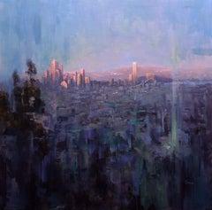Sunset's Last Kiss, Painting, Oil on Canvas
