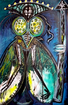 Queen moth -Timothy Archer, 21st Century, Contemporary painting
