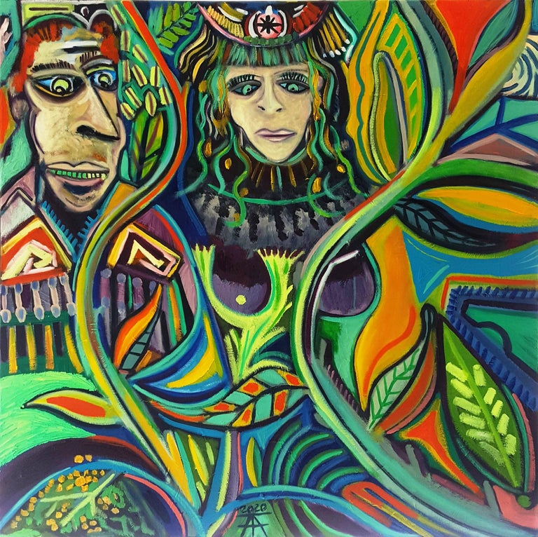 The song of roots -Timothy Archer, 21st Century, Contemporary painting - Painting by Timothy Archer