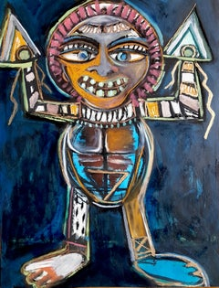 Totem with arrow arms -Timothy Archer, 21st Century, Contemporary painting