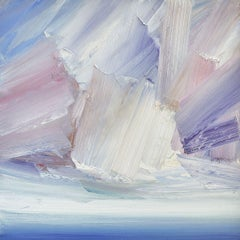Skies over Lindisfarne, Painting, Oil on Canvas