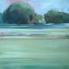 Summer - shades of green with blue 38 X 38