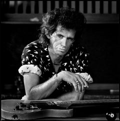 Keith Richards on Pool Table