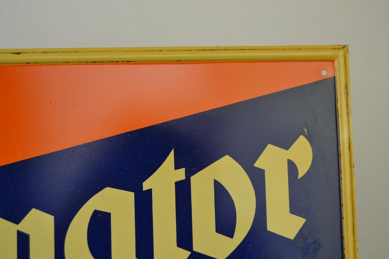 Tin Advertising Beer Sign, Germany, 1940s For Sale 4