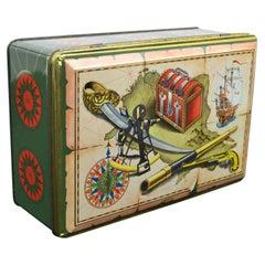 Tin box Theme Pirate, 1950s