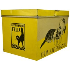 Tin Box with Felix the Cat, Mid-20th Century , Holland