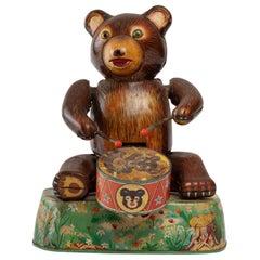 Tin Toy, Bear with Tambourine
