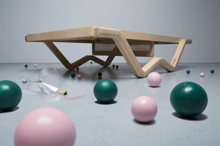 Tina Burner Ping Pong Table, Maple Handcraft Glow in the Dark Coffee Table 2