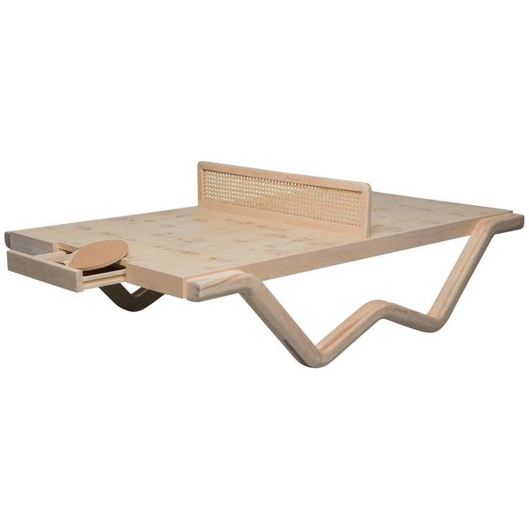 Tina Burner Ping Pong Table, Maple Handcraft Glow in the Dark Coffee Table 1