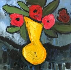 Oil on Canvas Still-life -- Yellow Vase