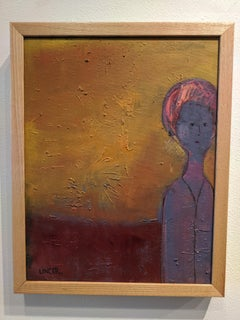 Portrait in Oil -- Woman on the Edge