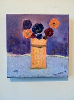 Still-life Oil Painting -- Apricot Vase