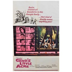 """Tina Louis Stars in """"God's Little Acre"""" 1967 Vintage Movie Poster"""