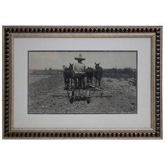 Tina Modotti Original Signature Photograph of Field Worker, circa 1920s
