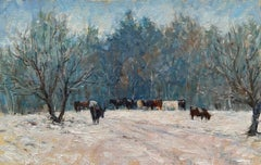 Cows in the Snow, Vermont