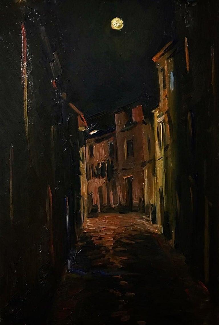 Tina Orsolic Dalessio Landscape Painting - Full Moon, Estremoz