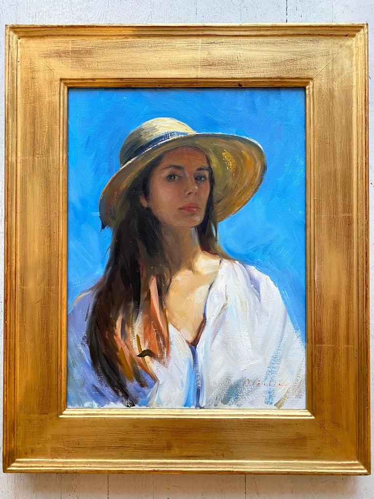 Self Portrait En Plein Air - Painting by Tina Orsolic Dalessio