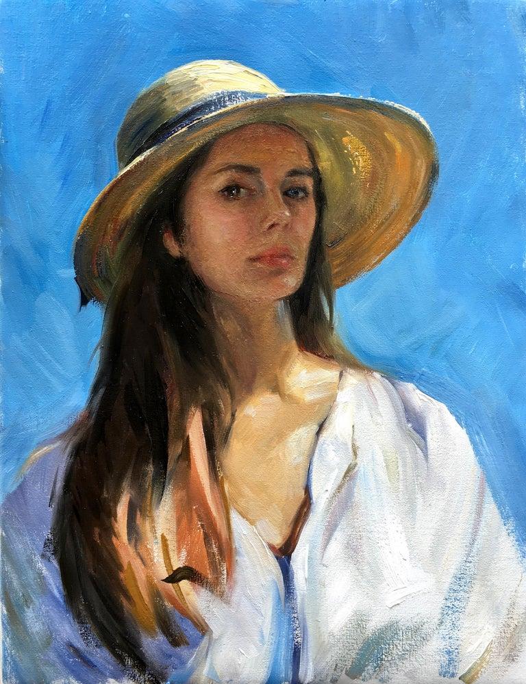 Tina Orsolic Dalessio Portrait Painting - Self Portrait En Plein Air